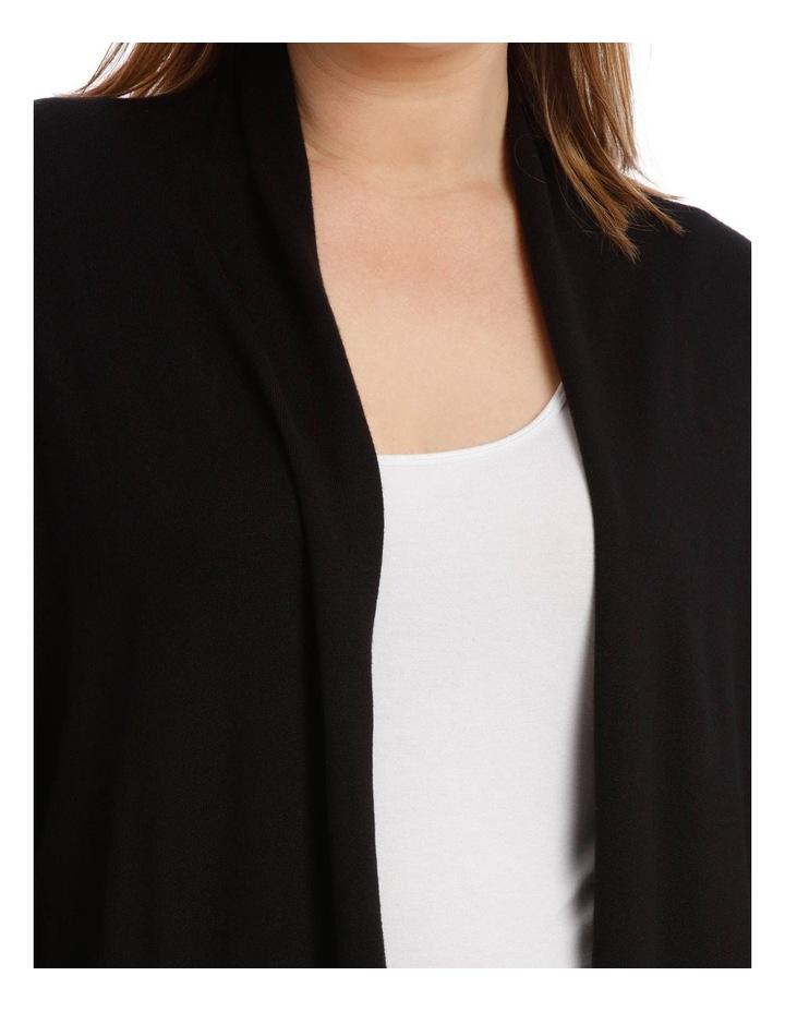 Peplum Shawl Collared Long Sleeve Cardigan image 4