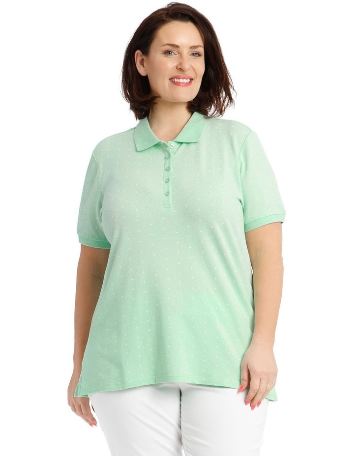 Mint With White Spot Short Sleeve Polo image 1