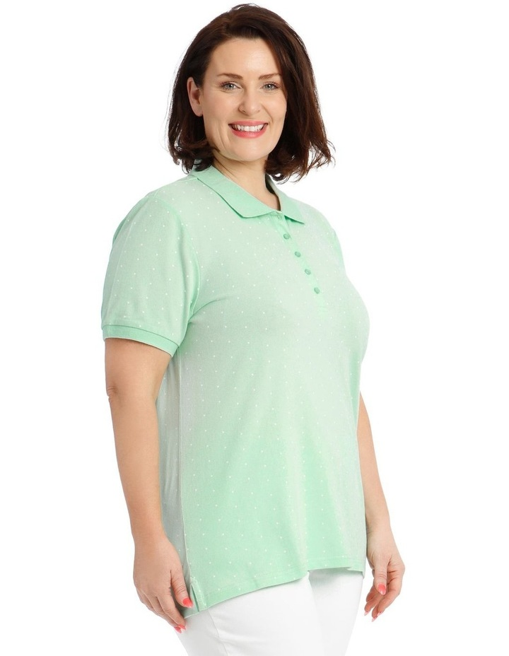 Mint With White Spot Short Sleeve Polo image 2