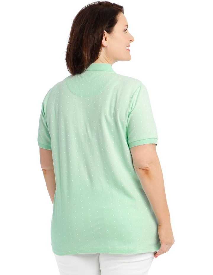 Mint With White Spot Short Sleeve Polo image 3