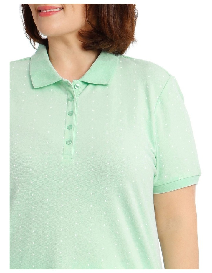Mint With White Spot Short Sleeve Polo image 4