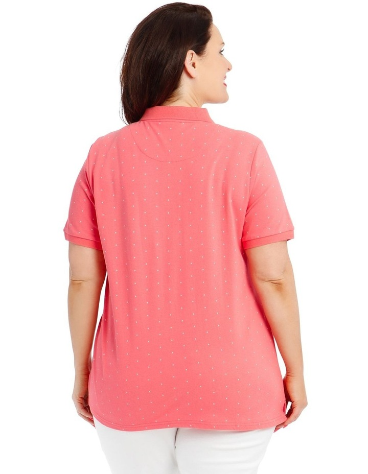 Pink With White Spot Short Sleeve Polo image 3