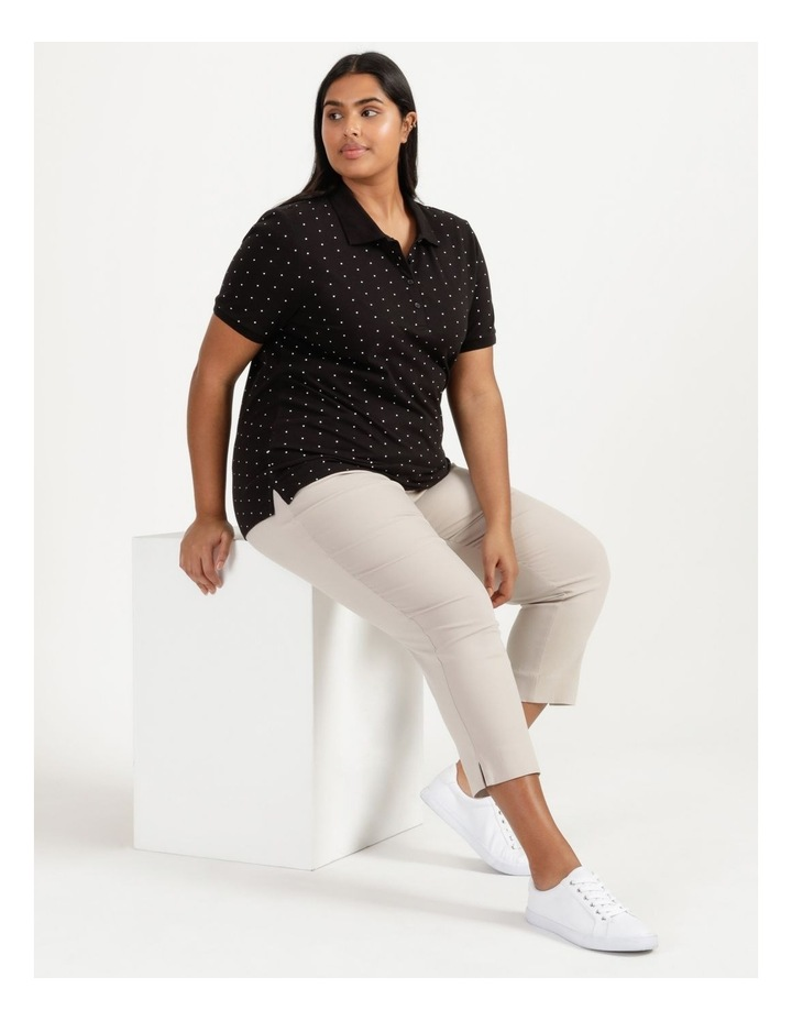 Core Short Sleeve Polo Black With White Spots image 1