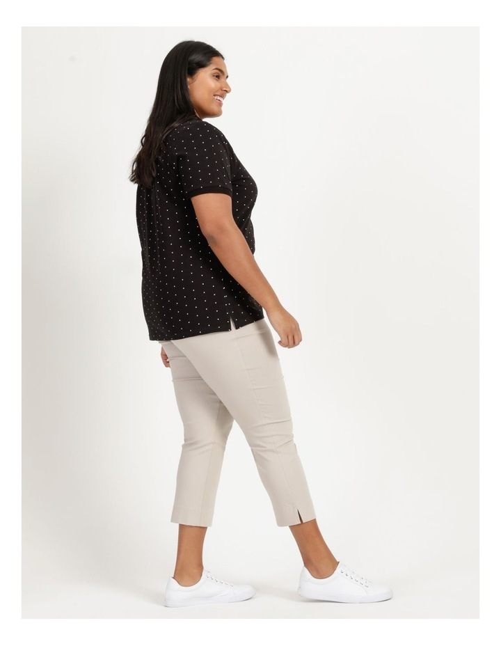 Core Short Sleeve Polo Black With White Spots image 3