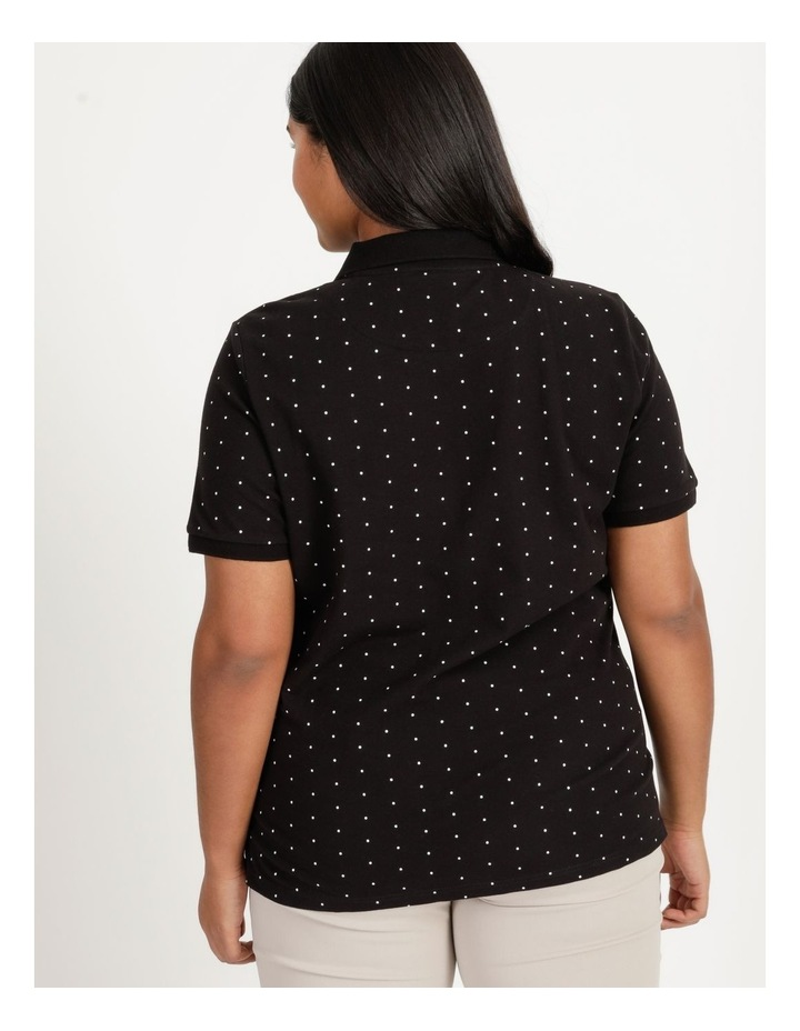 Core Short Sleeve Polo Black With White Spots image 4
