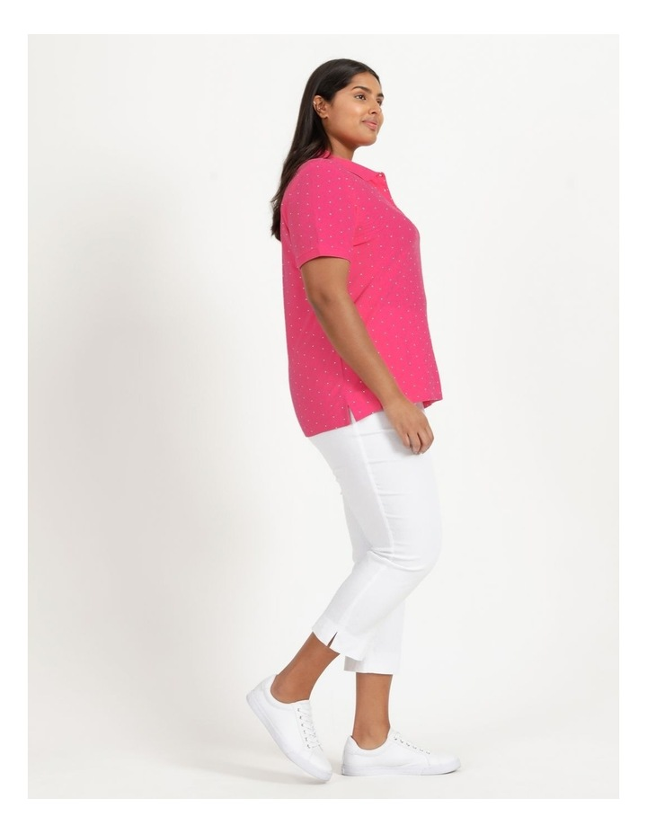 Core Short Sleeve Polo Hot Pink/White Spot image 4