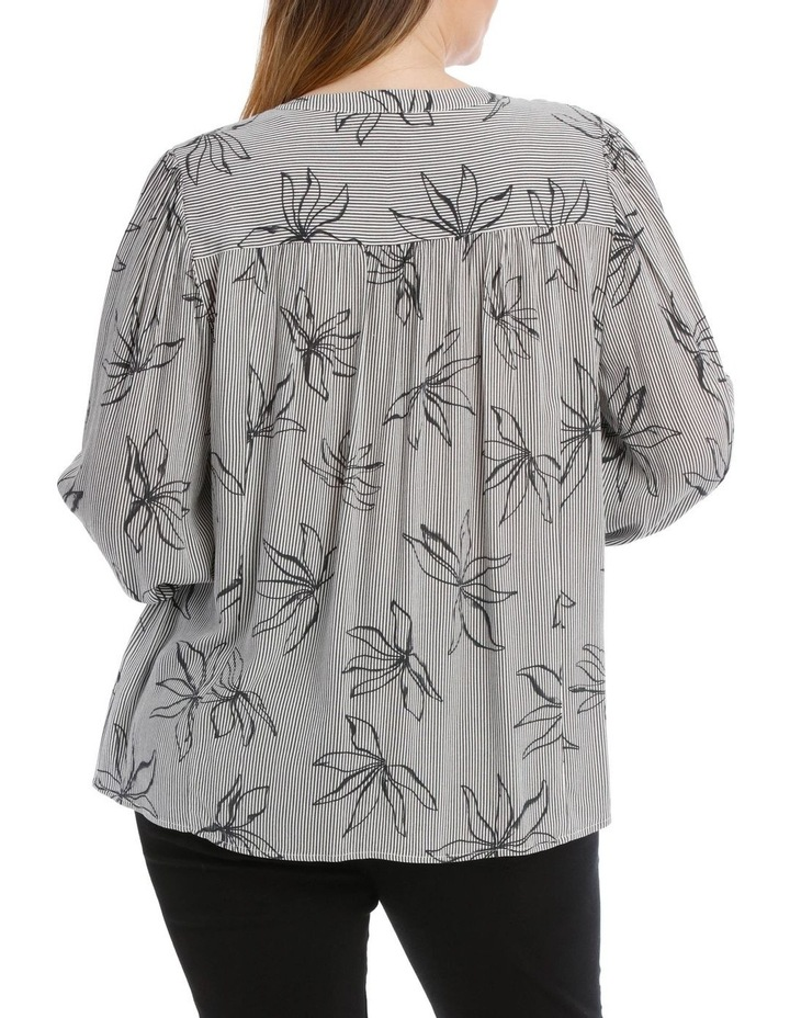 Frill Neck Long Sleeve Shirt With Yoke image 3