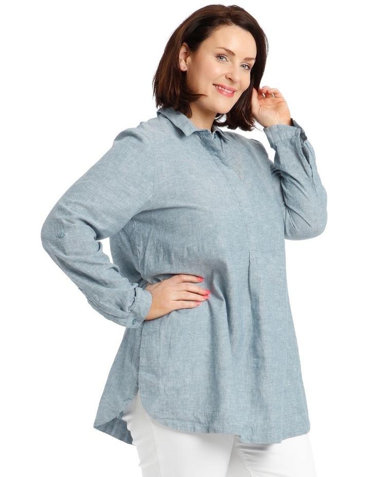 Long-Sleeve Shirt with Half Placket image 3