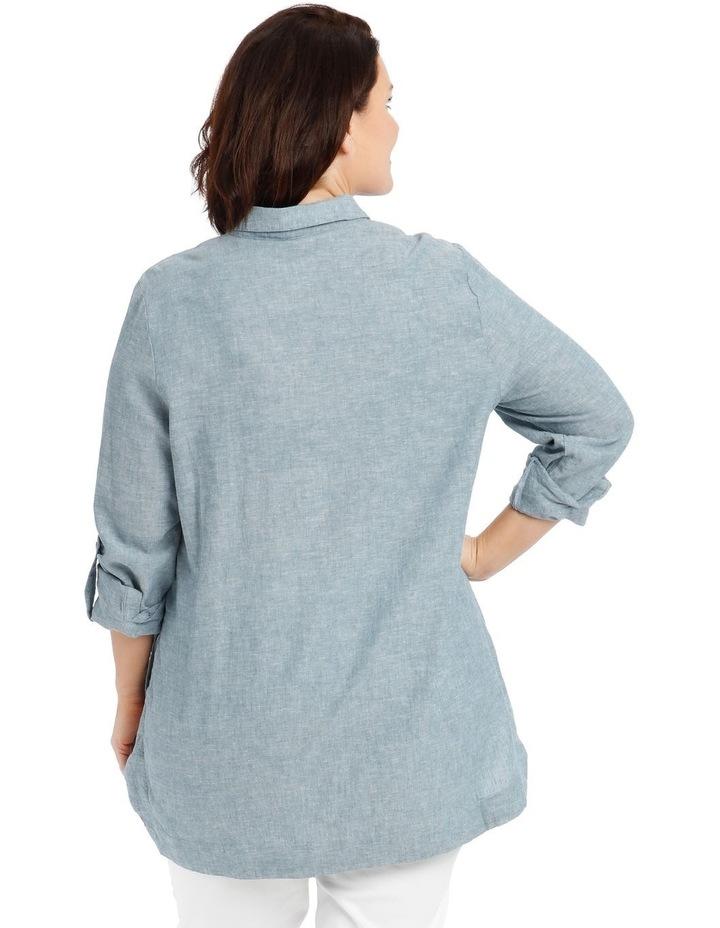 Long-Sleeve Shirt with Half Placket image 4