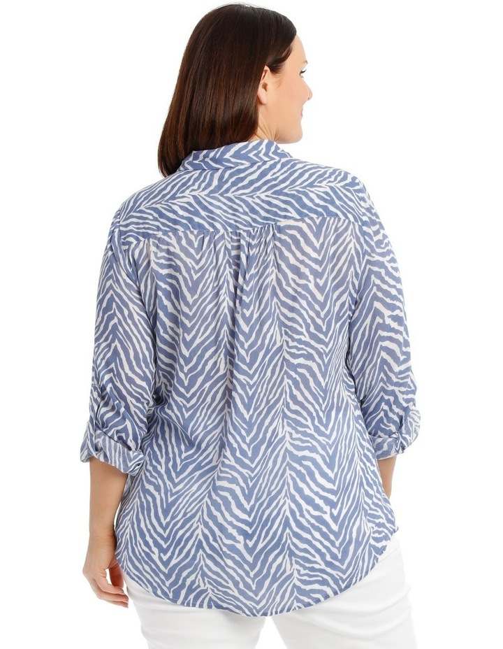 Front Tuck Long Sleeve Shirt With Rolled Sleeve image 3
