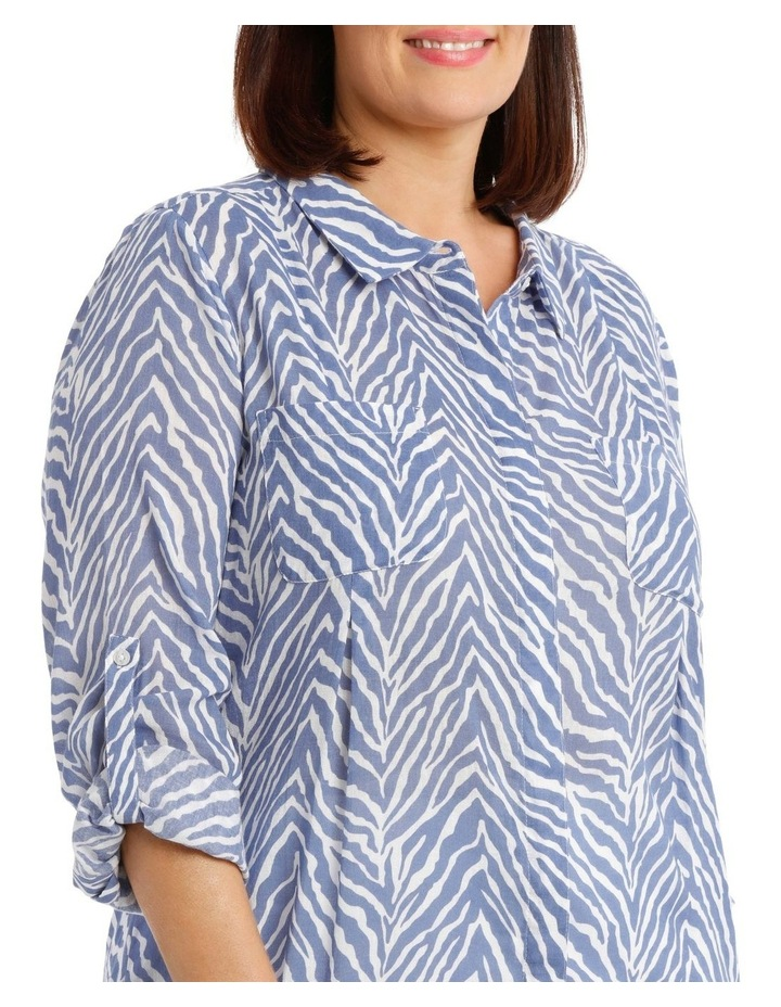 Front Tuck Long Sleeve Shirt With Rolled Sleeve image 5