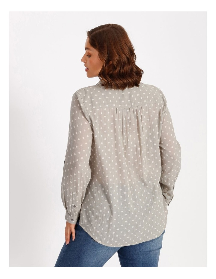 Rolled Long Sleeve Shirt With Front Tucks image 3