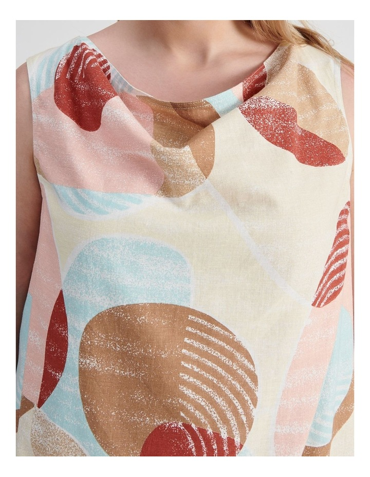 Sleeveless Hi Lo Hem Top With Cowl Neck in Desert image 5