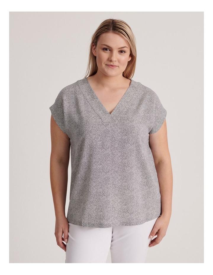 V-Neck Short Sleeve Top image 1