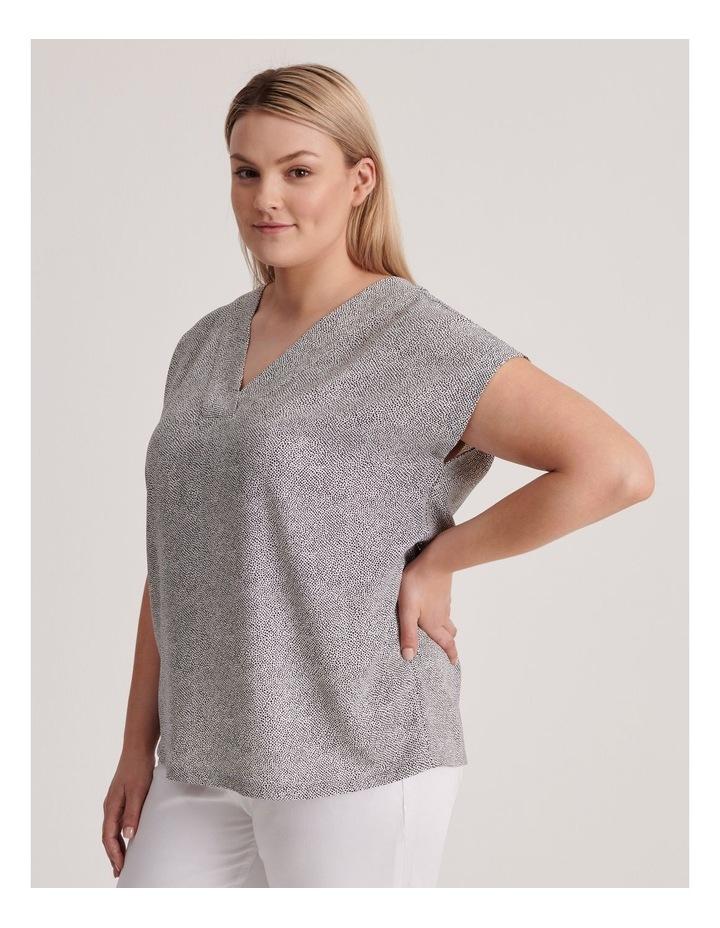 V-Neck Short Sleeve Top image 2