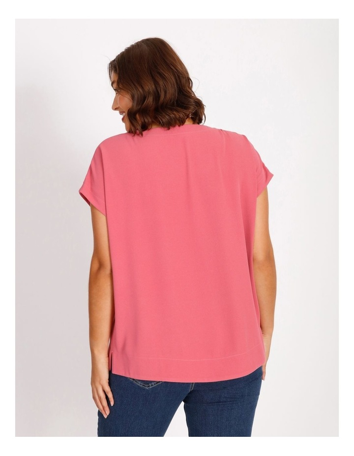 Etched Short Sleeve Dropped Shoulder Boxy Top image 3