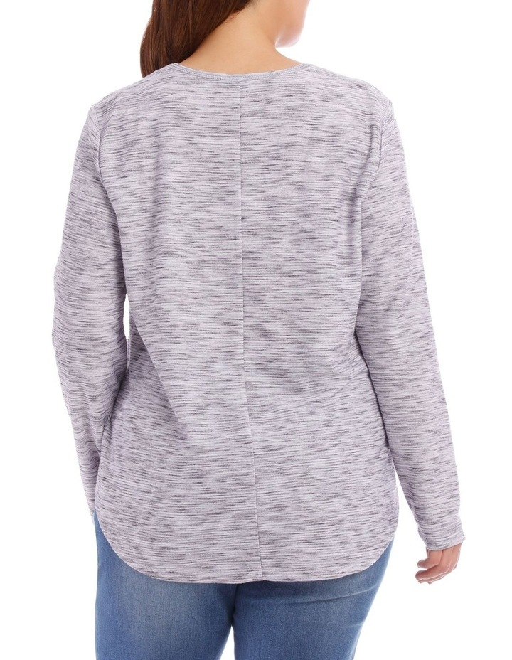 Wrap Front Textured Long Sleeve Tee image 3