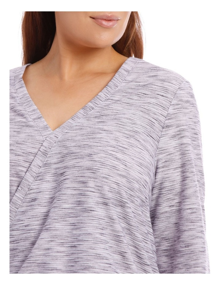 Wrap Front Textured Long Sleeve Tee image 4