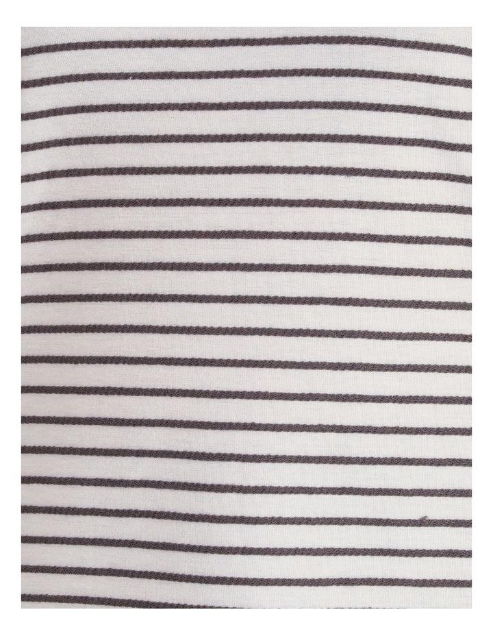 Horizontal And Vertical Stripe 3/4 Sleeve Tee image 5