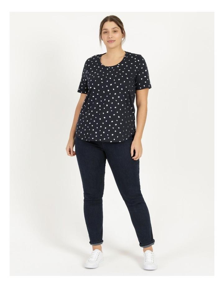 Wardrobe Staple Short Sleeve Tee Navy/Foil image 2