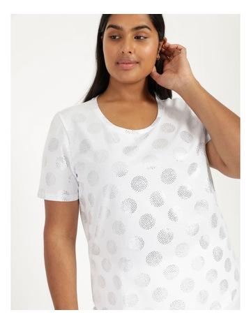 White/Silver Spots colour