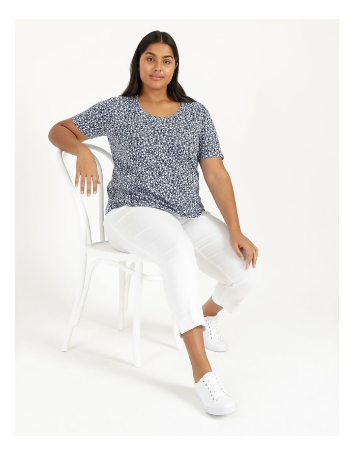 Wardrobe Staple Short Sleeve Tee Blue Pebble Spot image 6