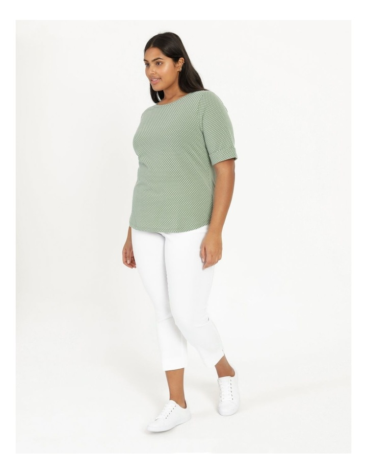 Short Sleeve Tee With Cuff Green/White Spot image 1