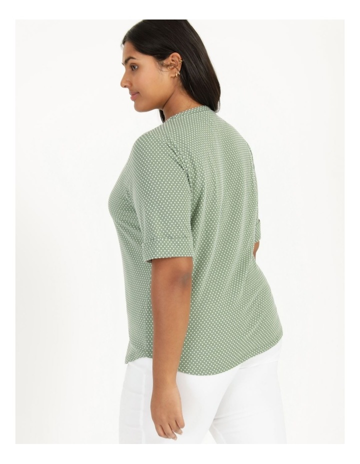 Short Sleeve Tee With Cuff Green/White Spot image 5