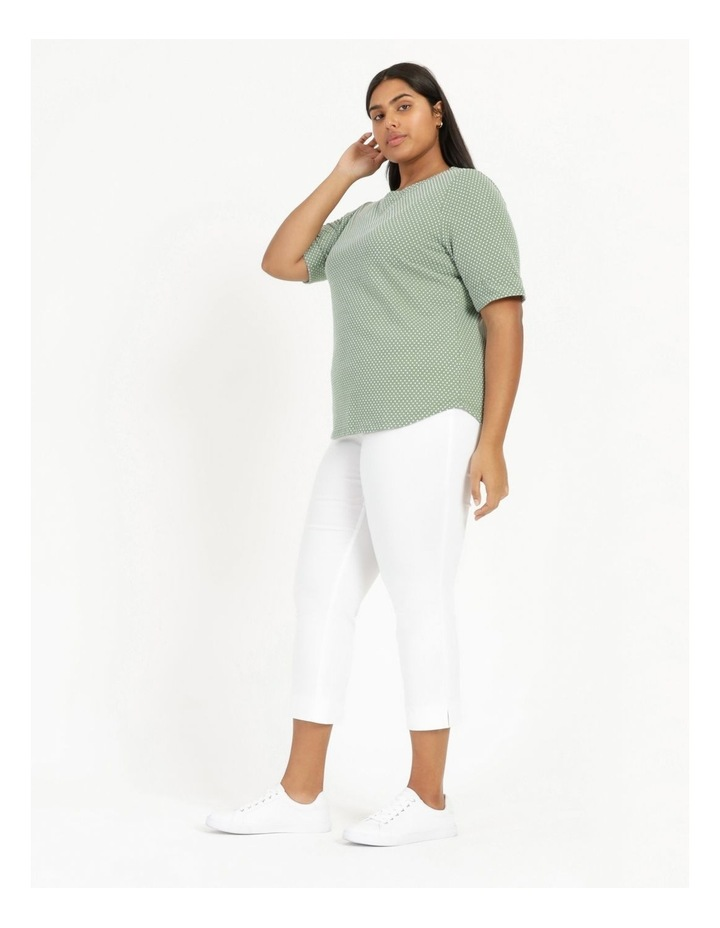 Short Sleeve Tee With Cuff Green/White Spot image 6