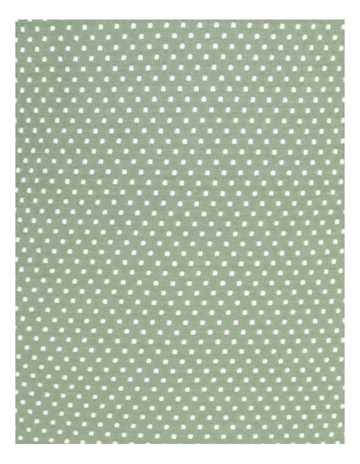 Short Sleeve Tee With Cuff Green/White Spot image 7