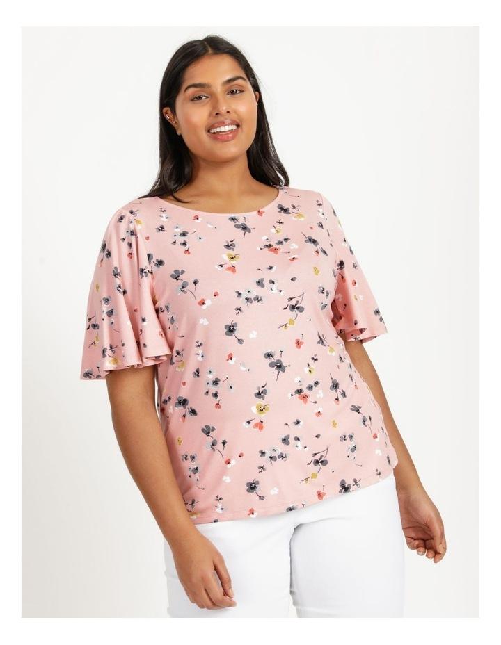 Flutter Short Sleeve Tee Pink Floral image 4