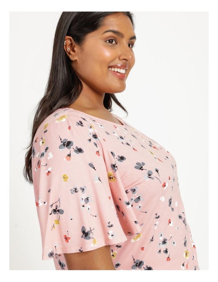 Flutter Short Sleeve Tee Pink Floral image 6