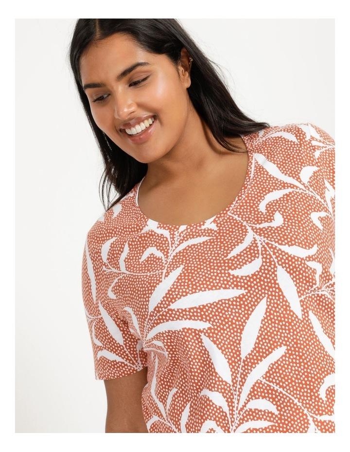 Wardrobe Staple Short Sleeve Tee Orange Spot Tropical image 1