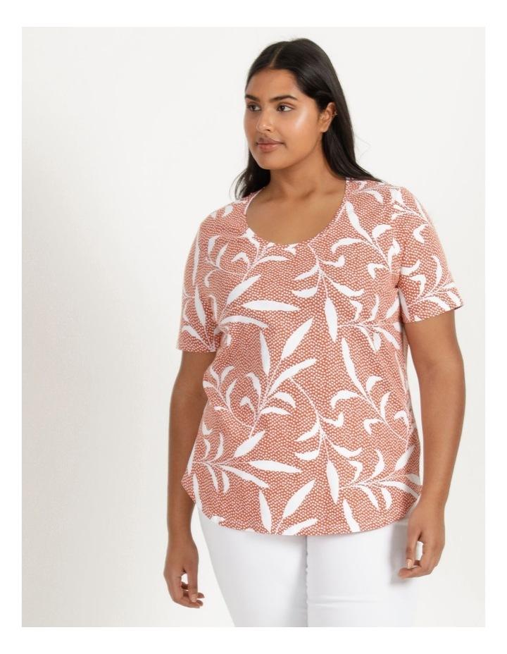 Wardrobe Staple Short Sleeve Tee Orange Spot Tropical image 3