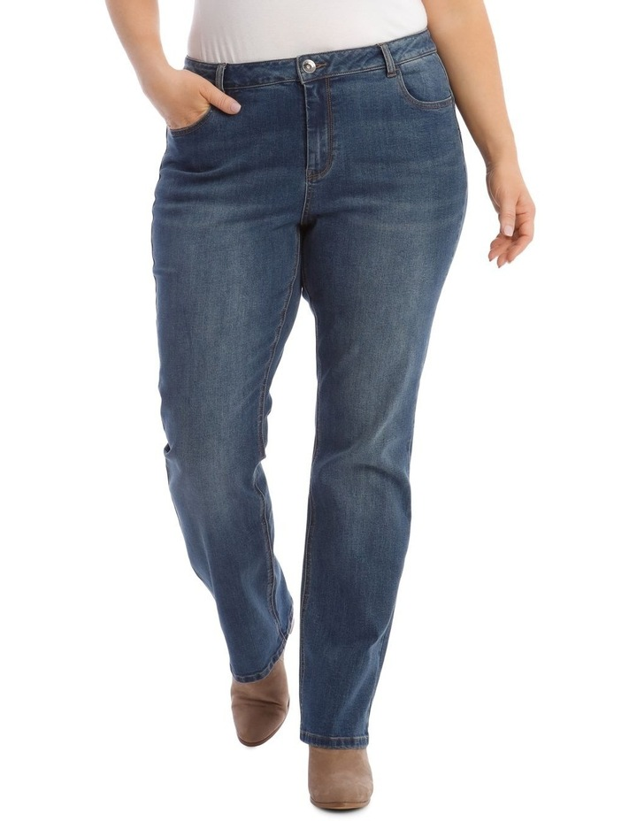 Essential Straight Jean in Mid Blue image 1