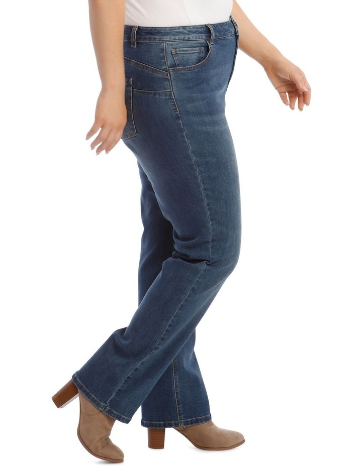 Essential Straight Jean in Mid Blue image 2