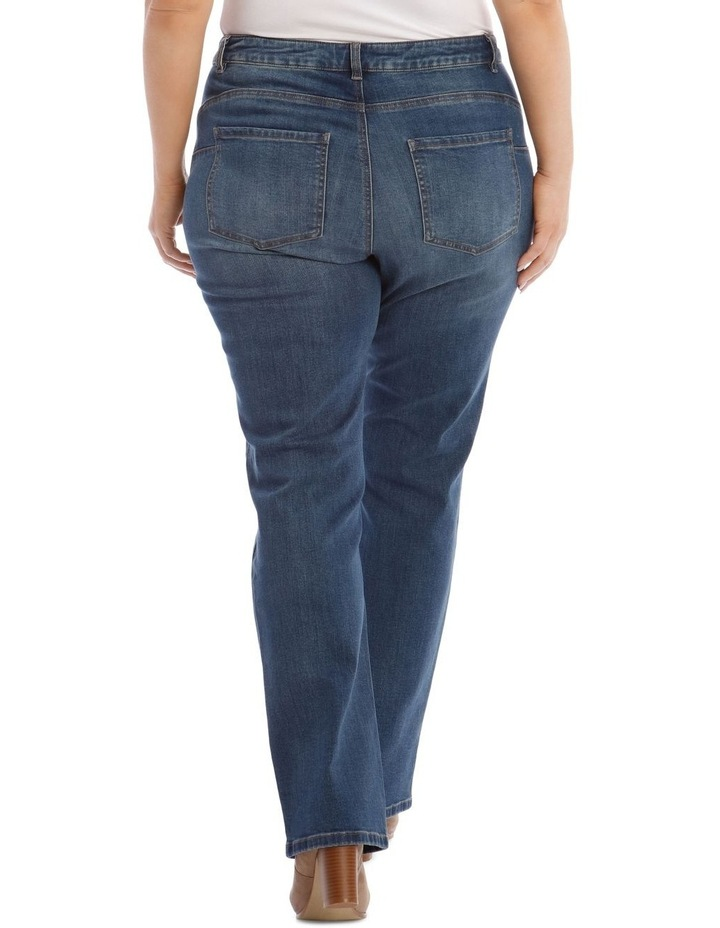 Essential Straight Jean in Mid Blue image 3