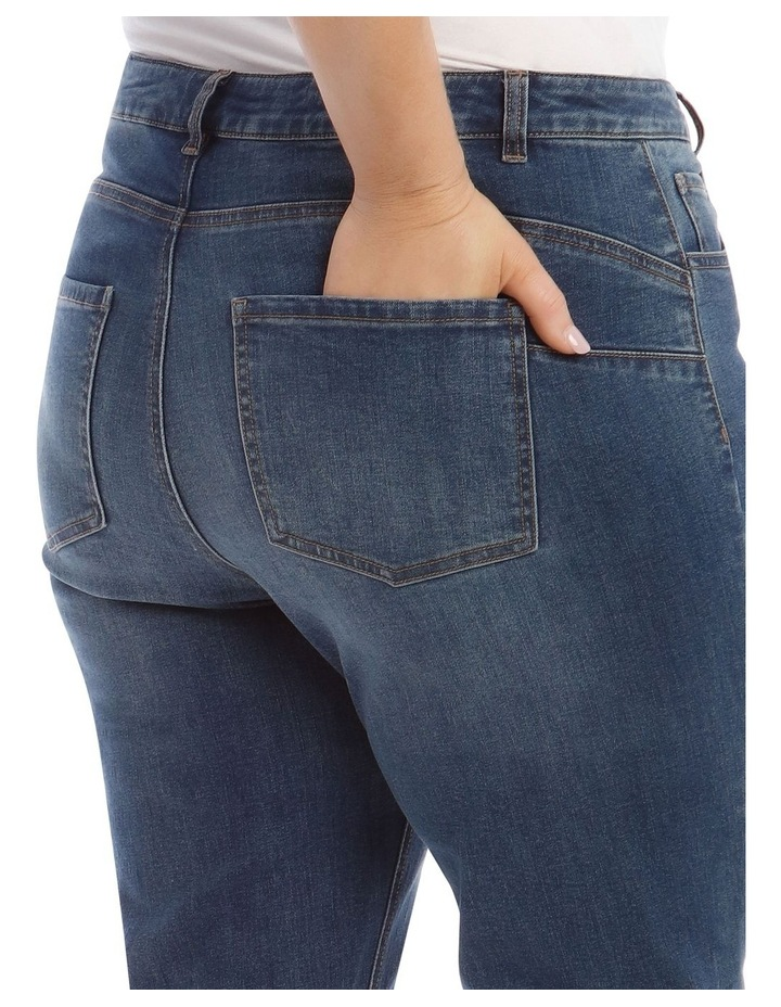Essential Straight Jean in Mid Blue image 4