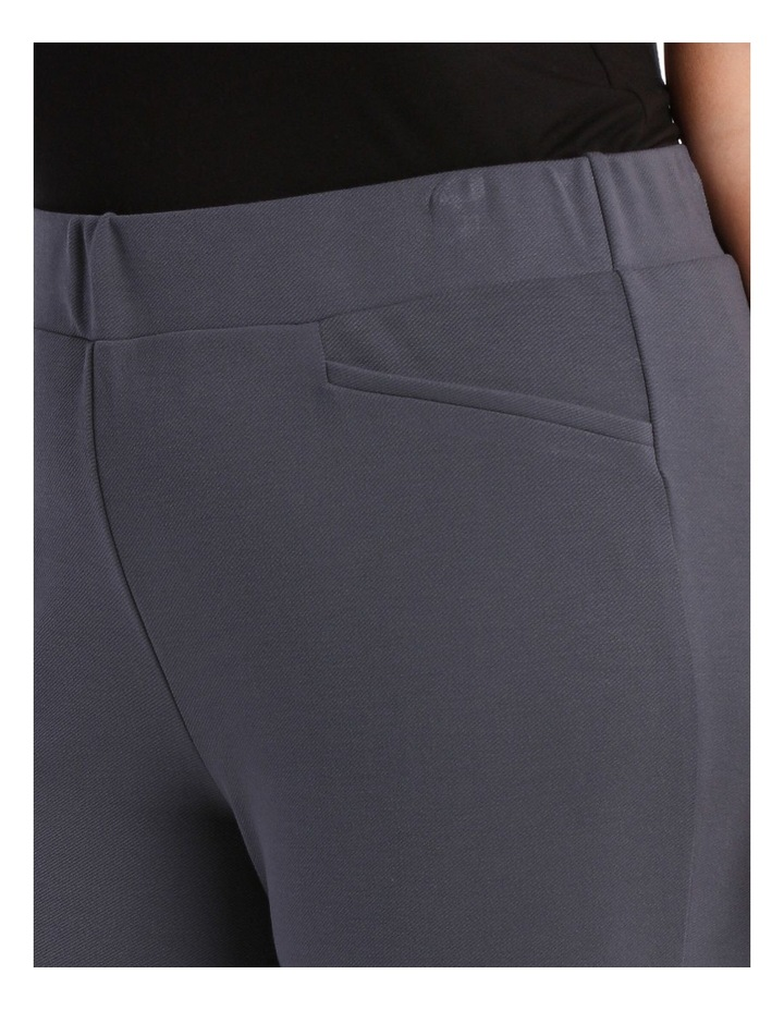 Straight Leg Pull On Pant In Twill Look-Dusty Navy image 4