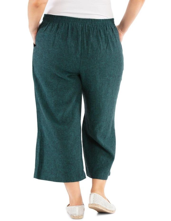 Flat Front Linen Blend Wide Leg Crop Pant image 3