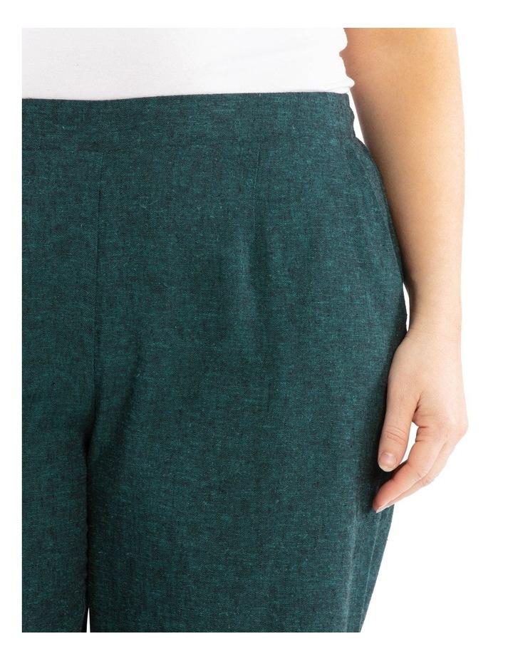 Flat Front Linen Blend Wide Leg Crop Pant image 4