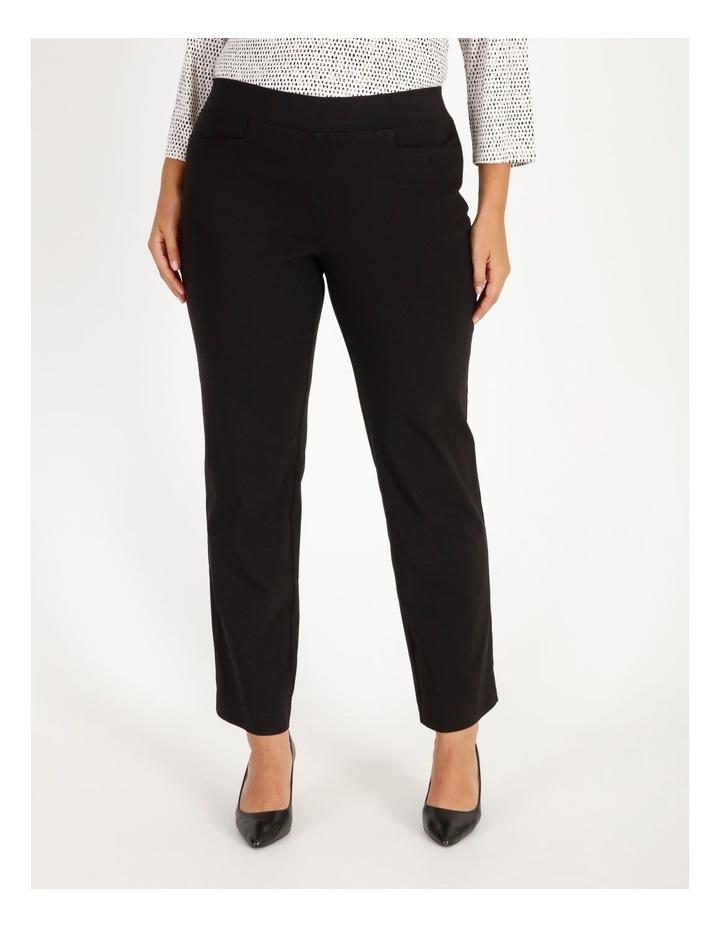 Wardrobe Staple Black Full Length Straight Leg Pants image 1