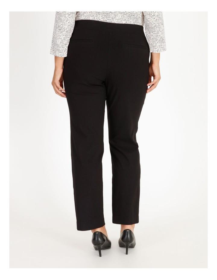 Wardrobe Staple Black Full Length Straight Leg Pants image 3