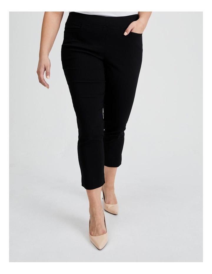 Essential Stretch Crop Pant in Black image 1