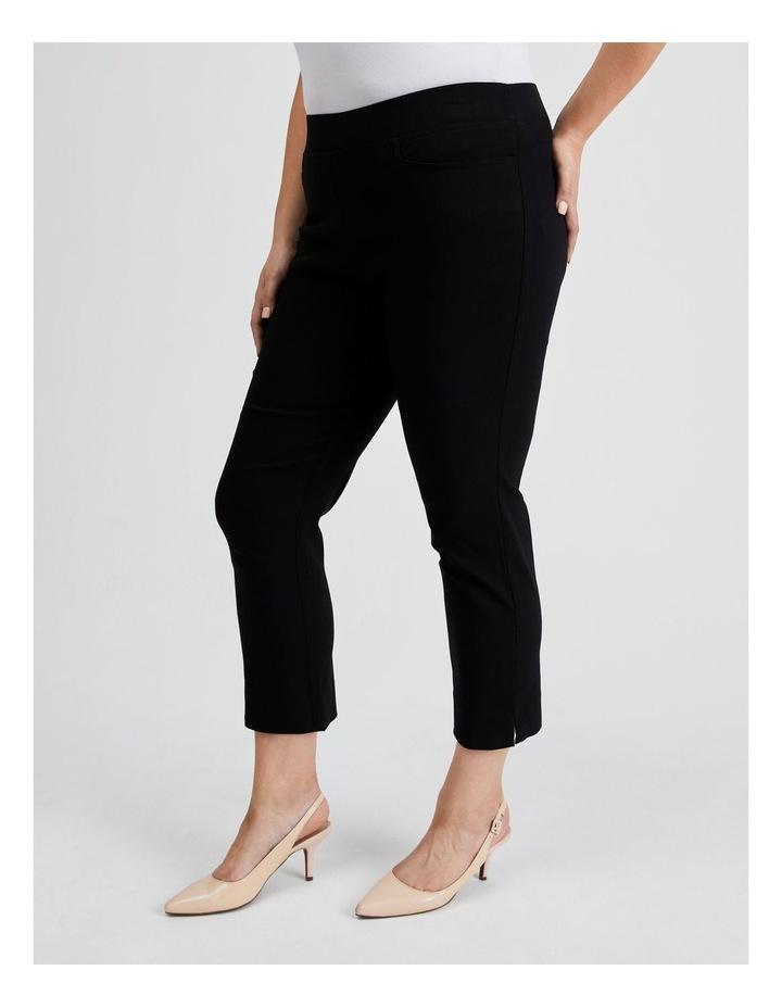 Essential Stretch Crop Pant in Black image 3