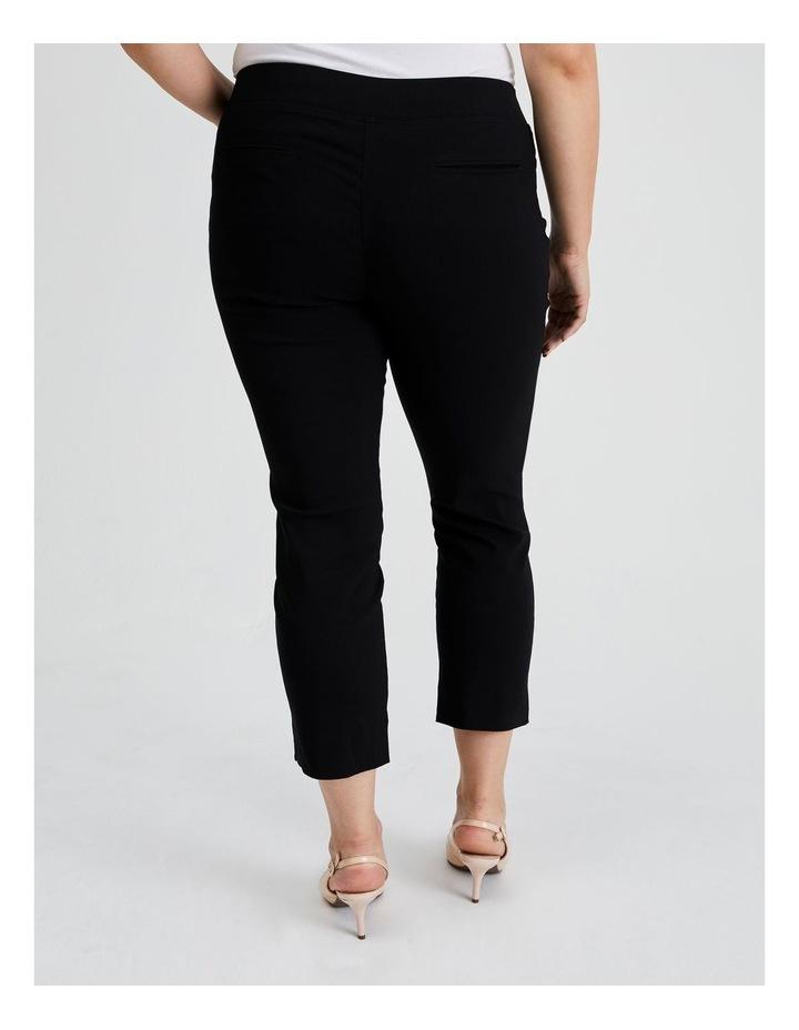 Essential Stretch Crop Pant in Black image 4