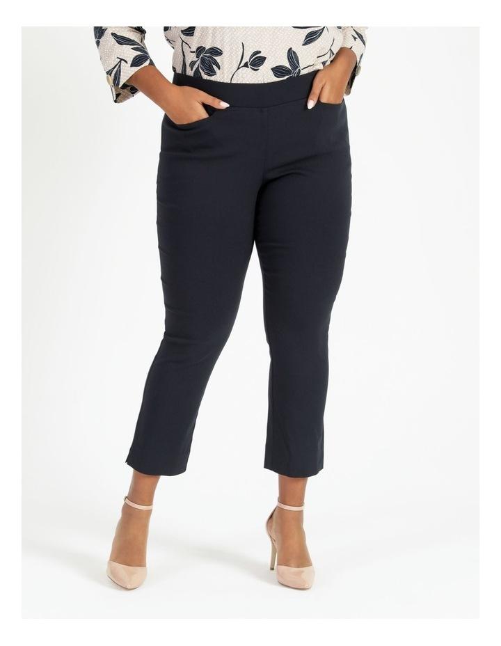 Essential Stretch Dark Navy Crop Pants image 1