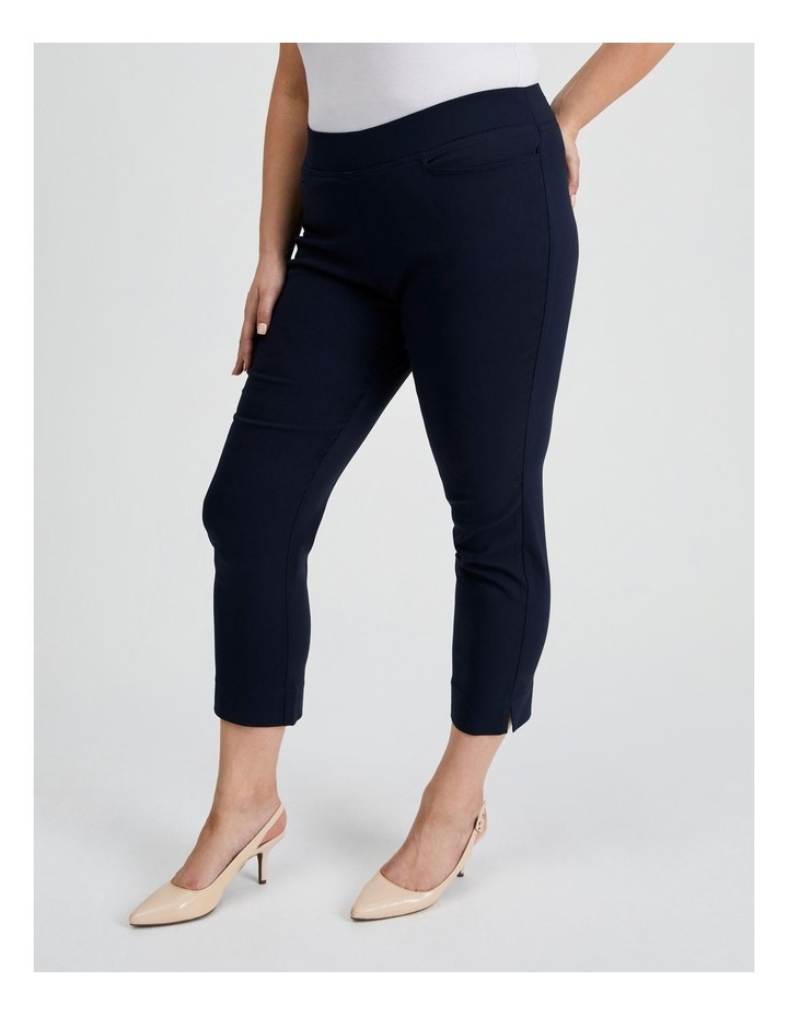Essential Stretch Crop Pant in French Navy image 3