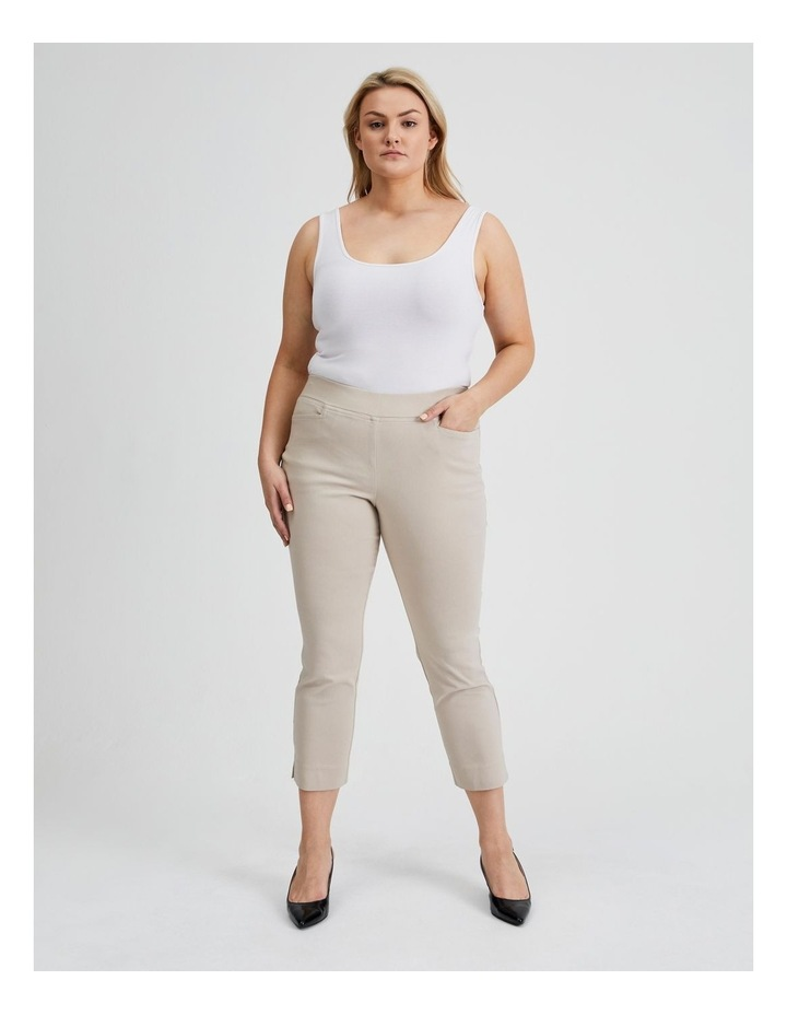 Essential Stretch Crop Pant in Mid Stone image 2