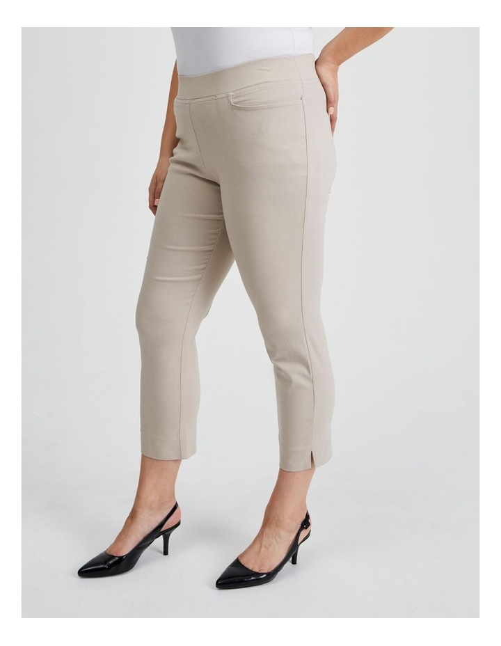 Essential Stretch Crop Pant in Mid Stone image 3